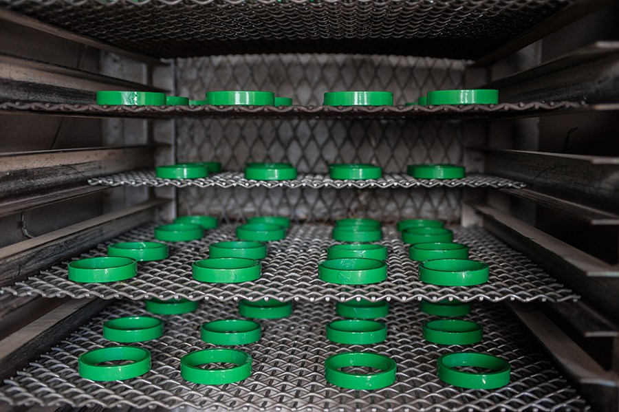 Magnetic cores drying